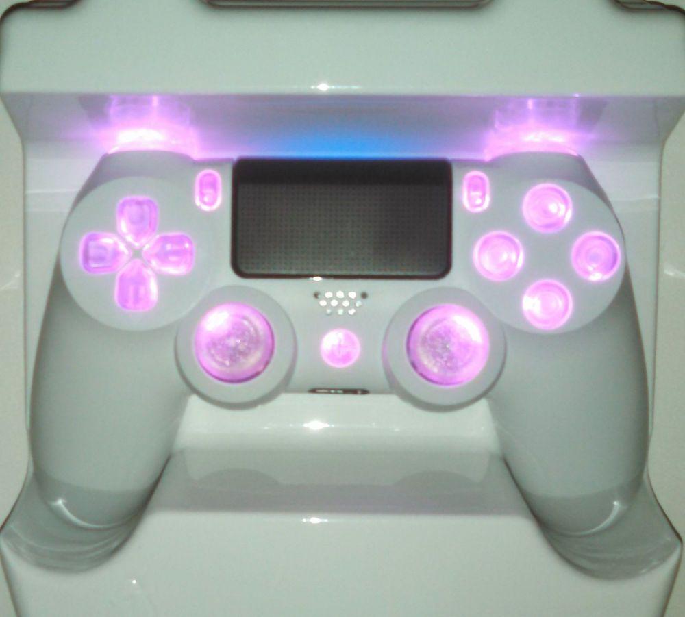 f r frauen und m dels white ps4 controller custom pink led. Black Bedroom Furniture Sets. Home Design Ideas