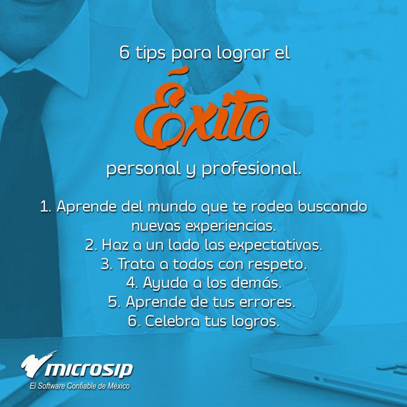 Tipsmicrosip 6 Tips Para Lograr El éxito Personal Y