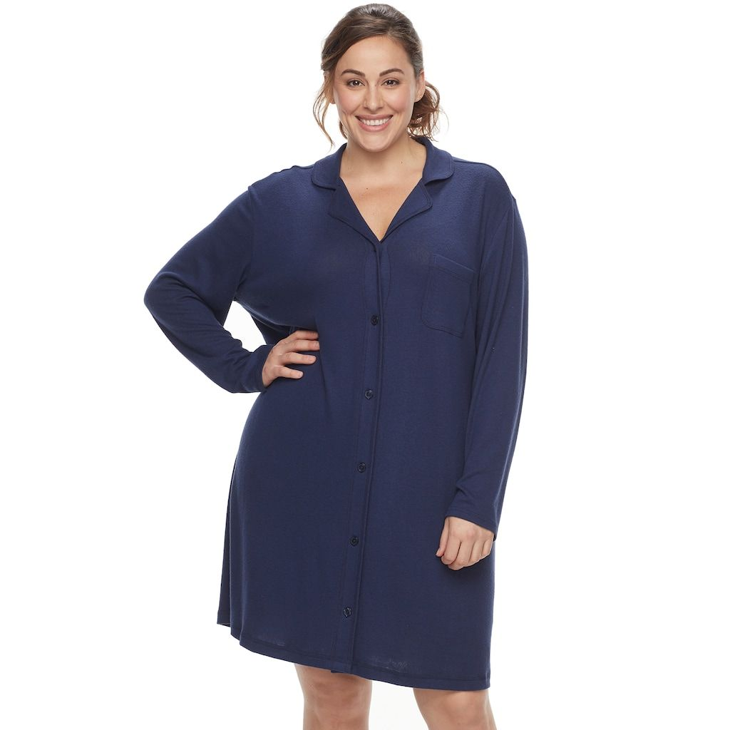 6de7f4f121 This women s SONOMA Goods for Life button-down sleep shirt is the perfect  pick.