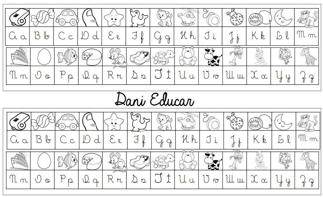 Resultado De Imagem Para Alfabeto Cursivo Maiusculo E Minusculo
