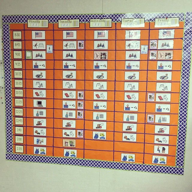 visual schedule for students with special needs and autism board maker visual schedule create