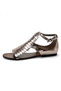 Metallic Flat Sandal by Cole Haan (of course,  I must only have eyes for the expensive)