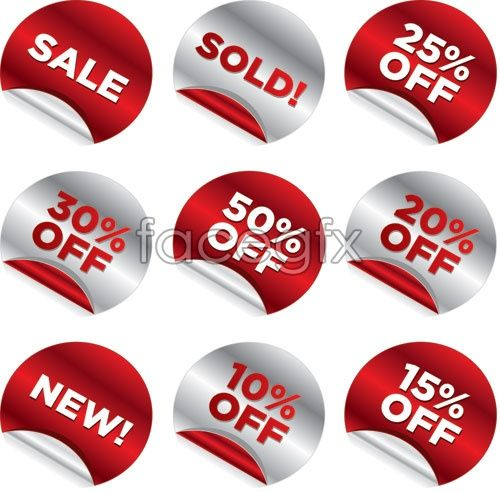 Volume Discount Sticker Label Price Reduction Vector Off Trade Gin
