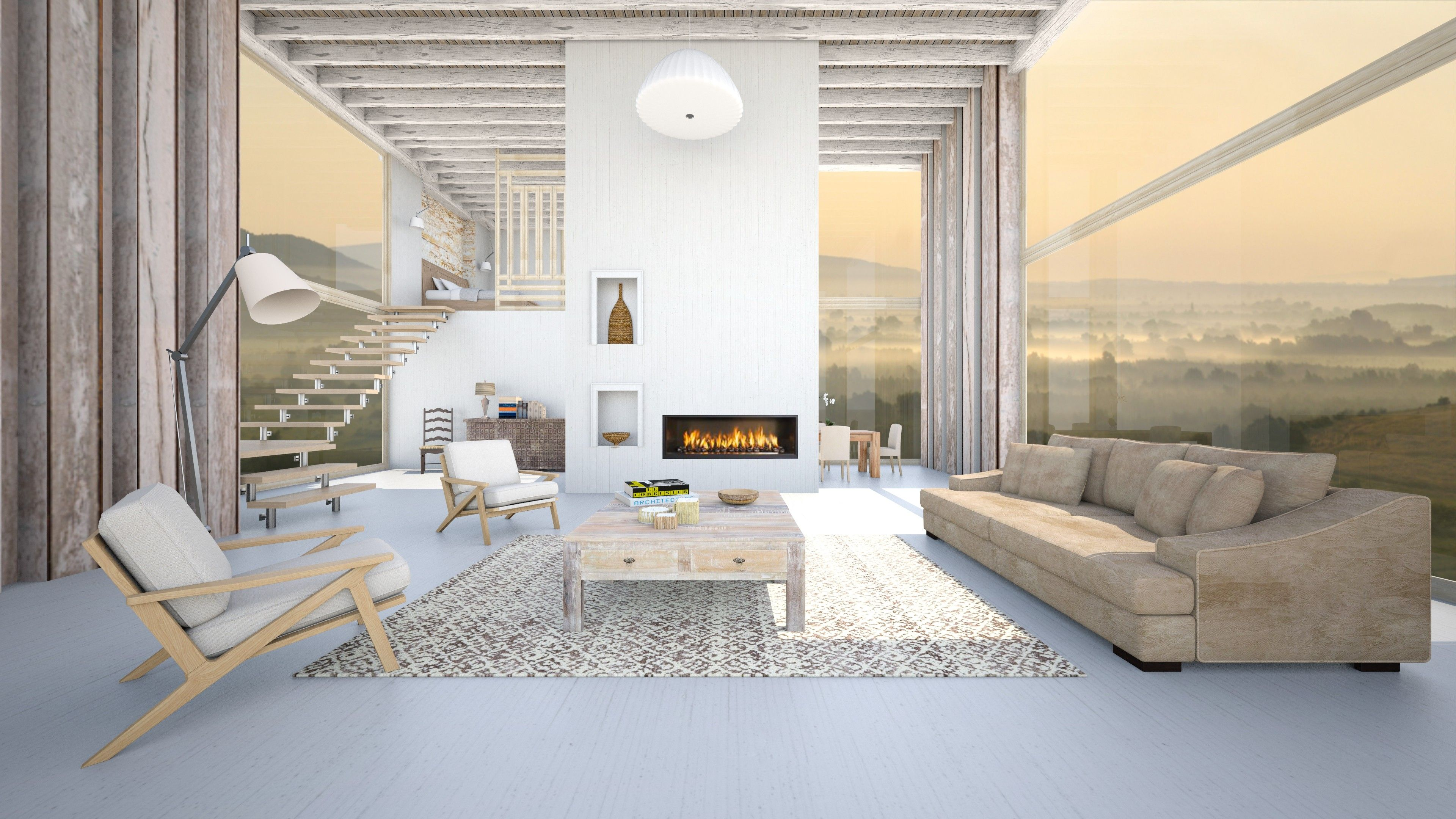 Beautiful scenic view from this split level living room! by Nufra on ...
