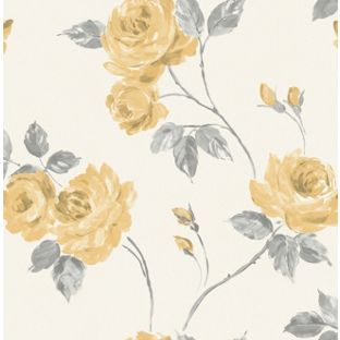 Fine Decor Romance Wallpaper Yellow From Homebase Co Uk Wallpaper Pink And Cream Floral Wallpaper Feature Wallpaper