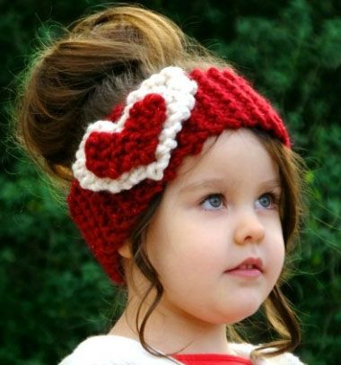 Knitted Heart Head Ear Warmer Kttt Szvecsks Flvd