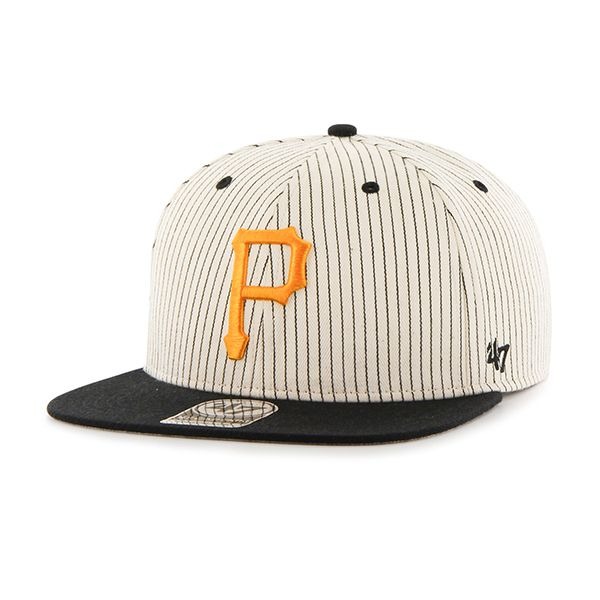 competitive price 09d71 fd25e Pittsburgh Pirates Woodside Captain Black 47 Brand Adjustable Hat