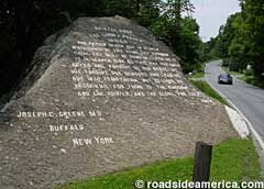 Rock inscribed with the Lord's Prayer.  Bristol, Vermont.  An interesting story behind this carving of the Lord's Prayer.   - Mebs