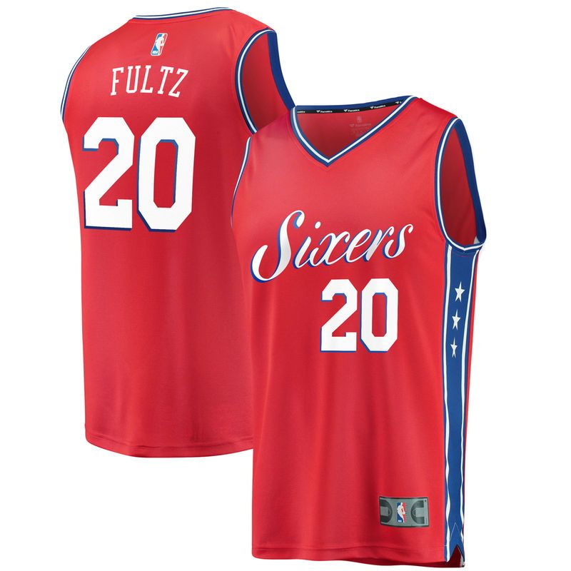 1c98c9529 Markelle Fultz Philadelphia 76ers Fanatics Branded Fast Break Replica Jersey  Red - Statement Edition