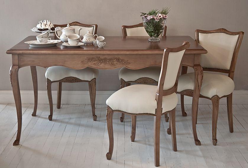 Mesa de comedor Provenzal con sillas Versalles | muebles de cocina y ...