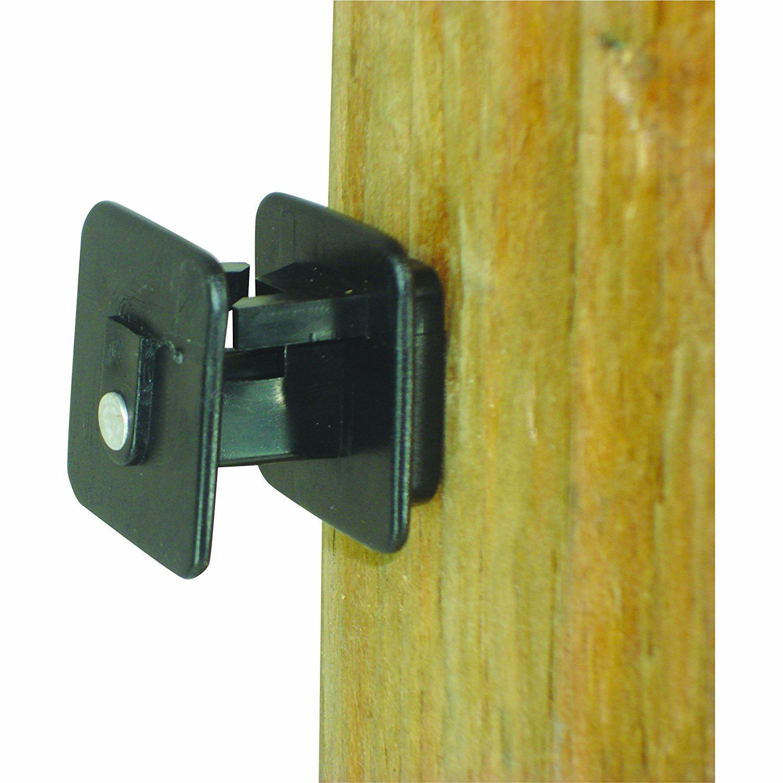 Field Guardian Wood Post Screw on Insulator Wire, Black