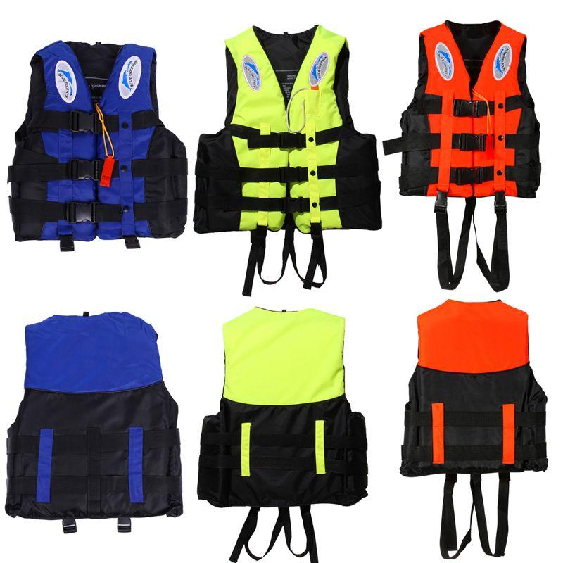 Sport acquatici Outdoor Poliestere Adulto Giubbotto di Salvataggio Universale Nuoto Canottaggio Sci Gilet Tuta Di Sopravvivenza Con Il Fischio