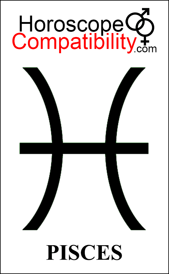 Pisces Zodiac Sign Glyph Astrological Compatibility Matters