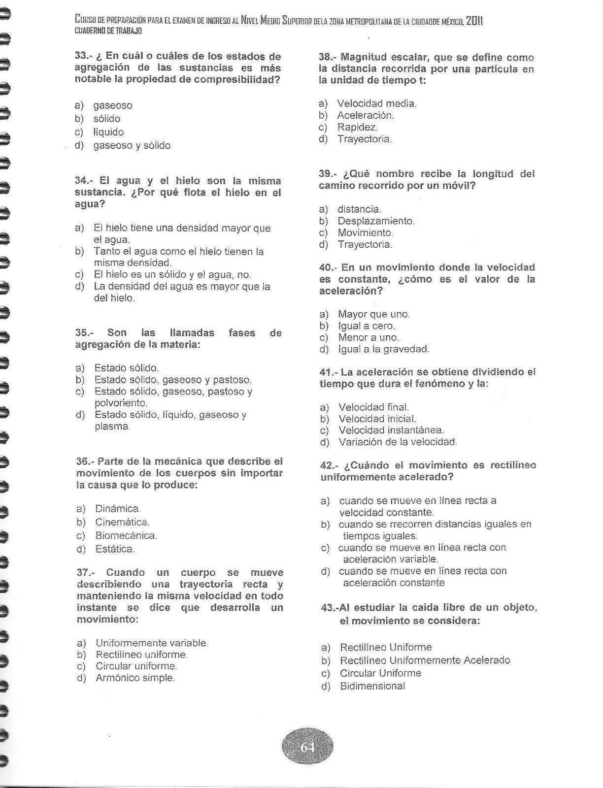 Jesus Fis Quim Fisica Ejercicios Preparacion Examen Ceneval Examen Lecciones De Gramatica Matematicas Bachillerato