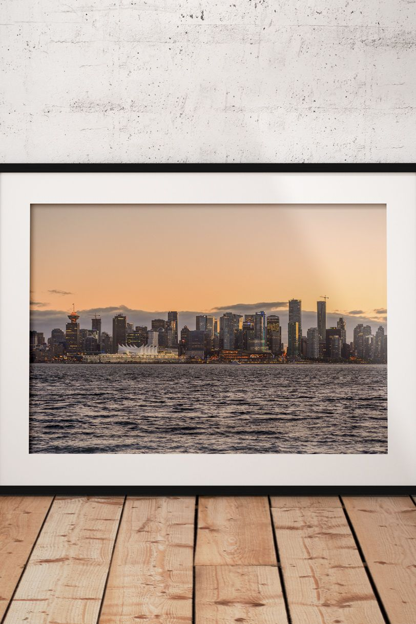 Color printing downtown vancouver - Vancouver Downtown At Sunset From Lonsdale Quay In North Vancouver Canada Prints Available In