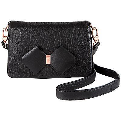 df1a7325b7ed7d Buy Ted Baker Hobbie Bow Detail Leather Across Body Handbag