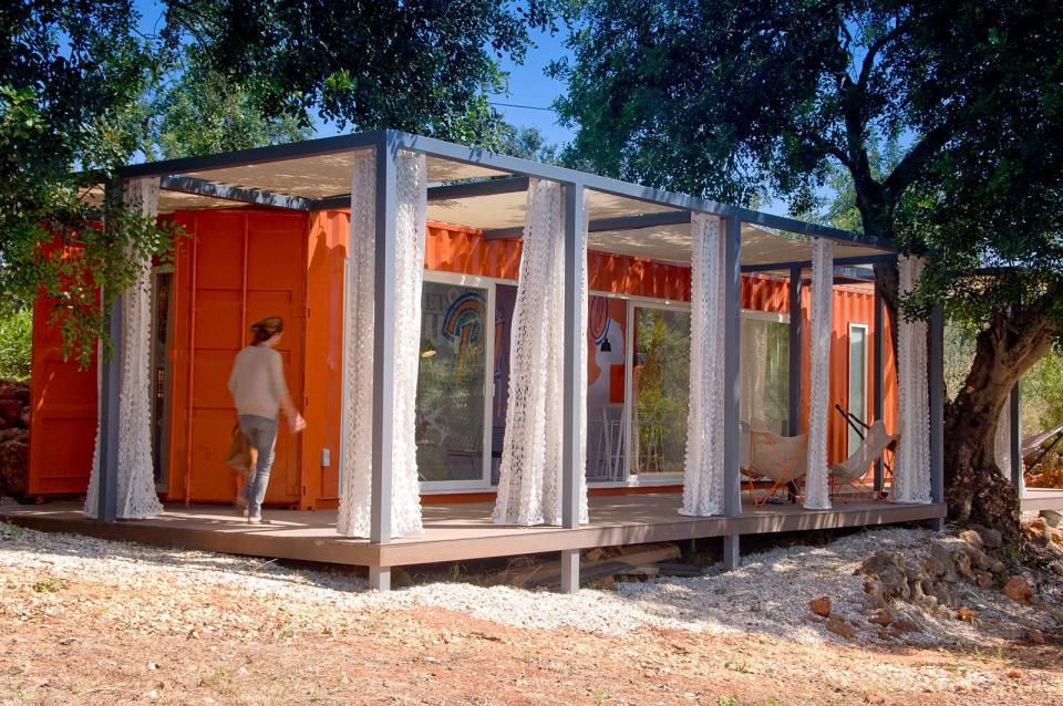 Nomad Living a shipping container guest house that expands out to