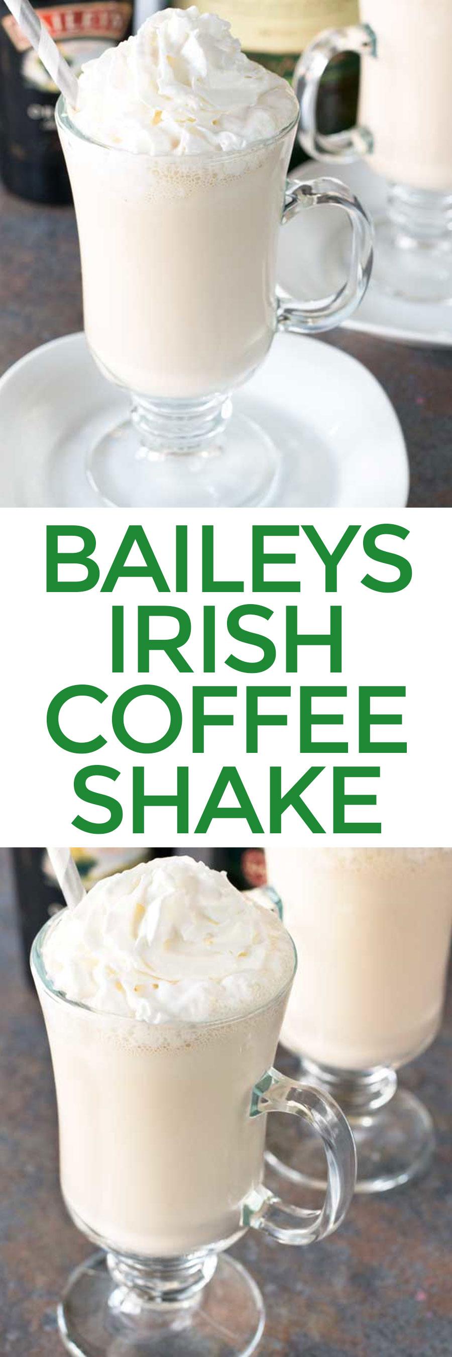 Bailey's Irish Coffee Shake Recipe Coffee shake, Irish