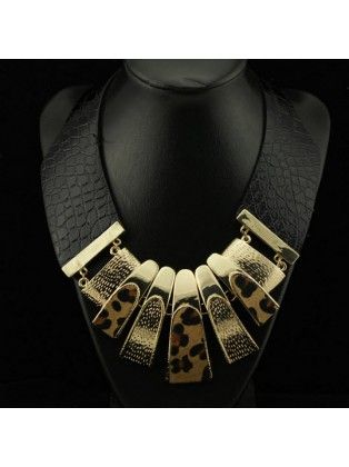 Metal Leopard Thick Necklace