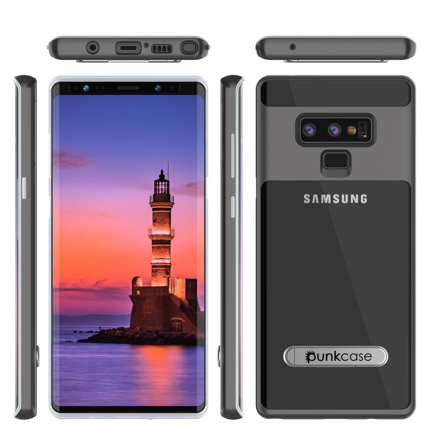 Galaxy Note 9 Lucid 3 0 Punkcase Armor Cover W Integrated Kickstand And Screen Protector Grey Galaxy Note Galaxy Galaxy Note 9