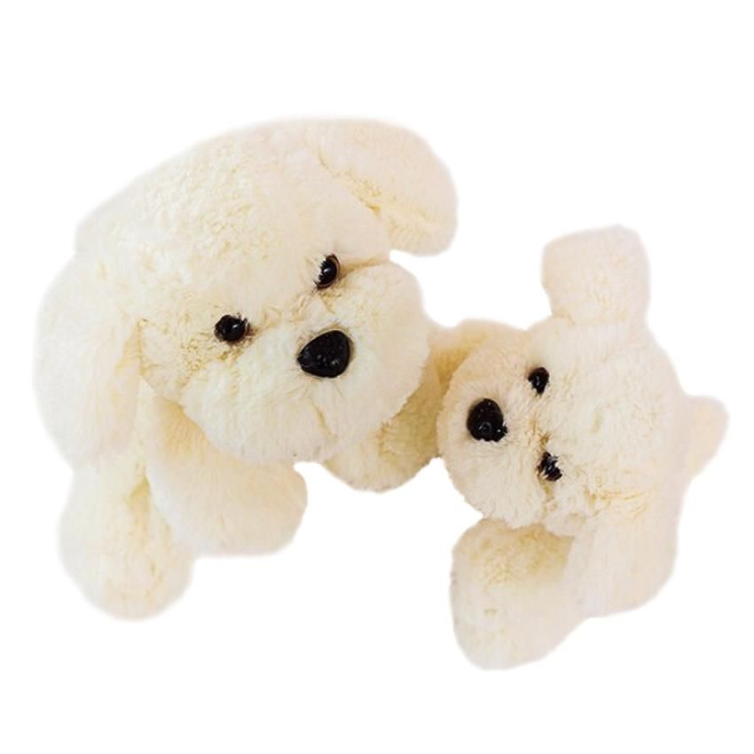 1pc 20cm Super Kawaii White Dog Plush Toy High Quality