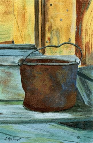Daily Paintworks Rusty Bucket By Lynne Reichhart Arte Objetos