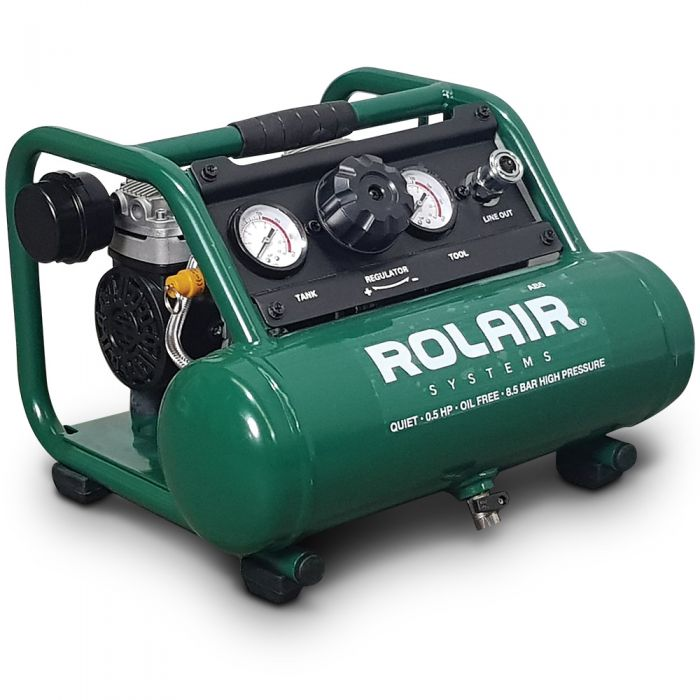 Rolair Ultra Quiet 0.5HP 5L Oil Free Air Compressor AB5AU