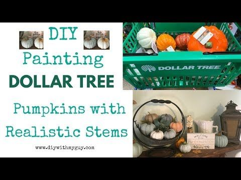 Cheap Fall Decor Diy Farmhouse Pumpkins Dollar Tree Hack