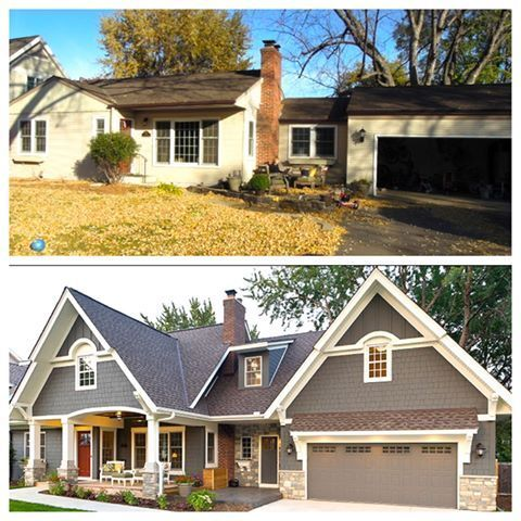 Modern exterior paint colors for houses ranch remodel for Exterior remodel before and after