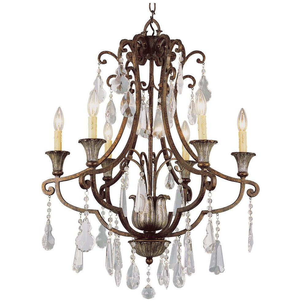 Bel Air Lighting Cabernet Collection 6 Light Antique Bronze Chandelier
