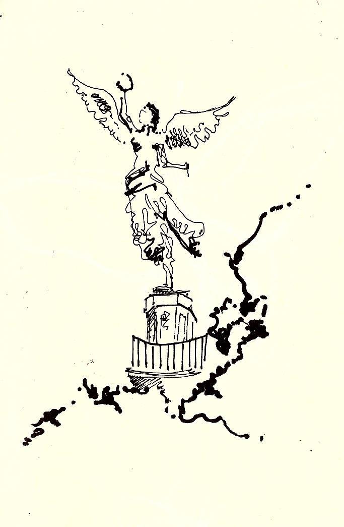 Croquis Angel De La Independencia Angel De La Independencia Croquis Tatuaje Angel
