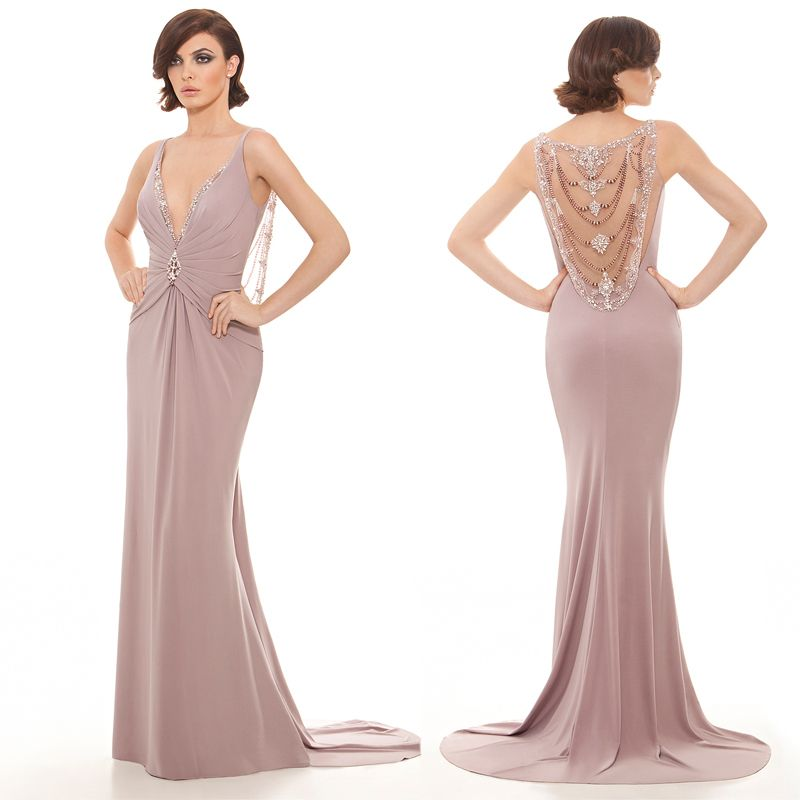 Summer Style Sexy V Neck Mother Of The Bride Gowns Floor Long Beaded Bodice Dress For Wedding