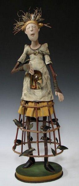 Akira Larry Blount Are A Husband Wife Artist Team Akira Originally Needle Sculpted Traditional Doll Forms How Art Dolls Handmade Art Dolls Assemblage Art