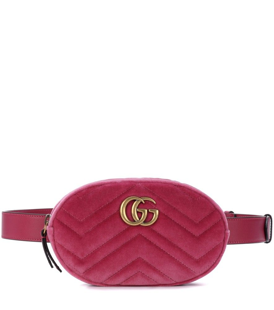 1197987cb Gucci - Marmont velvet belt bag - Bring Gucci's cool-girl flavour to your  accessories edit with the Marmont belt bag. Crafted in Italy from  raspberry-hued ...