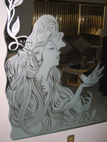 Custom Mirror Etching Etched Mirror Glass Etching