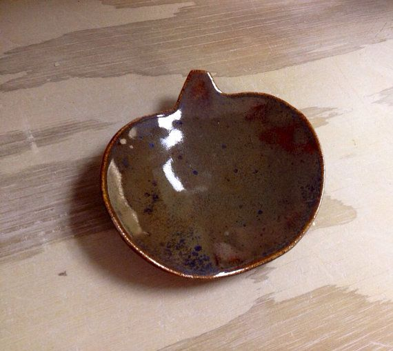Handmade ceramic pumpkin dish for Fall by thetinytugboat on Etsy