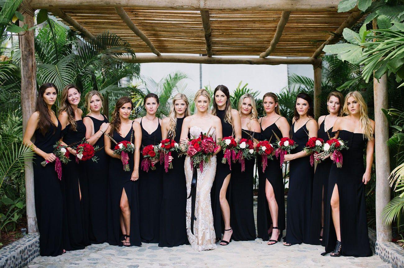 Bohemian 70s Inspired Kauai Wedding Cologne Sam Green Wedding Shoes Black Bridesmaid Dresses Bridesmaid Bridesmaid Dress Styles [ 862 x 1300 Pixel ]