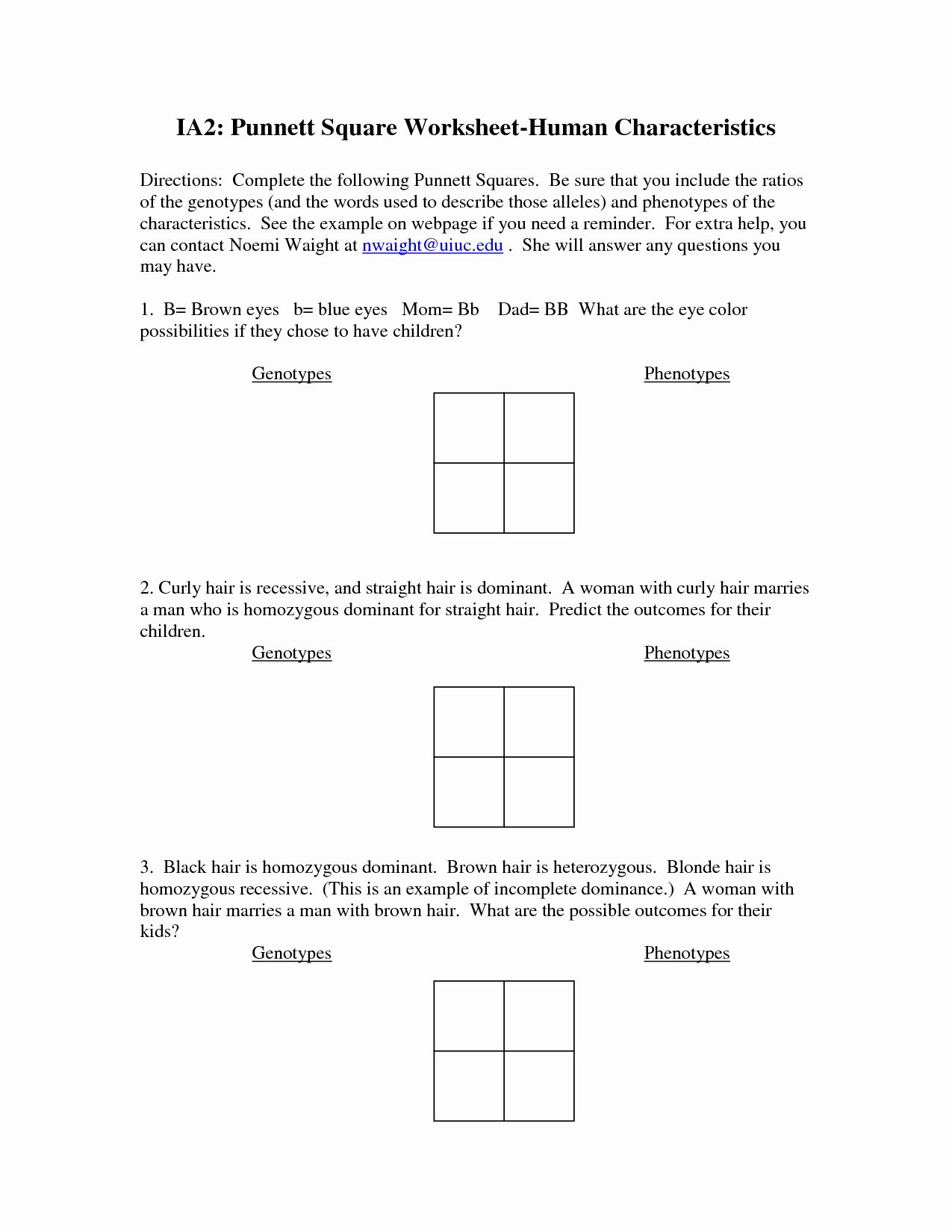 Genetics Problems Worksheet Answer Key Elegant 9 Best Of