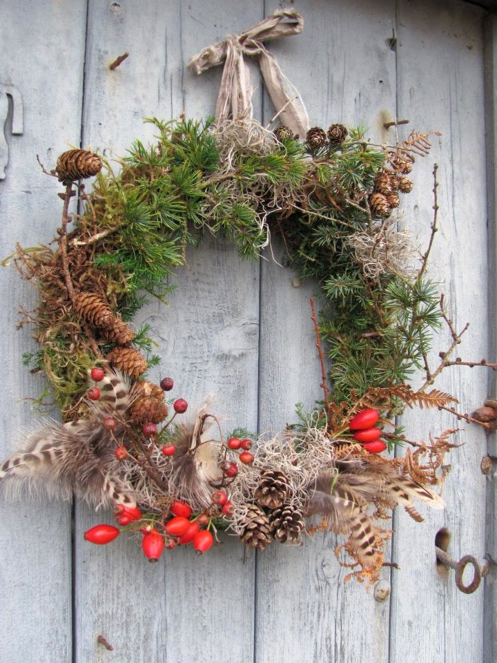 Rose hip wreath by The Bue Carrot. Gardenista