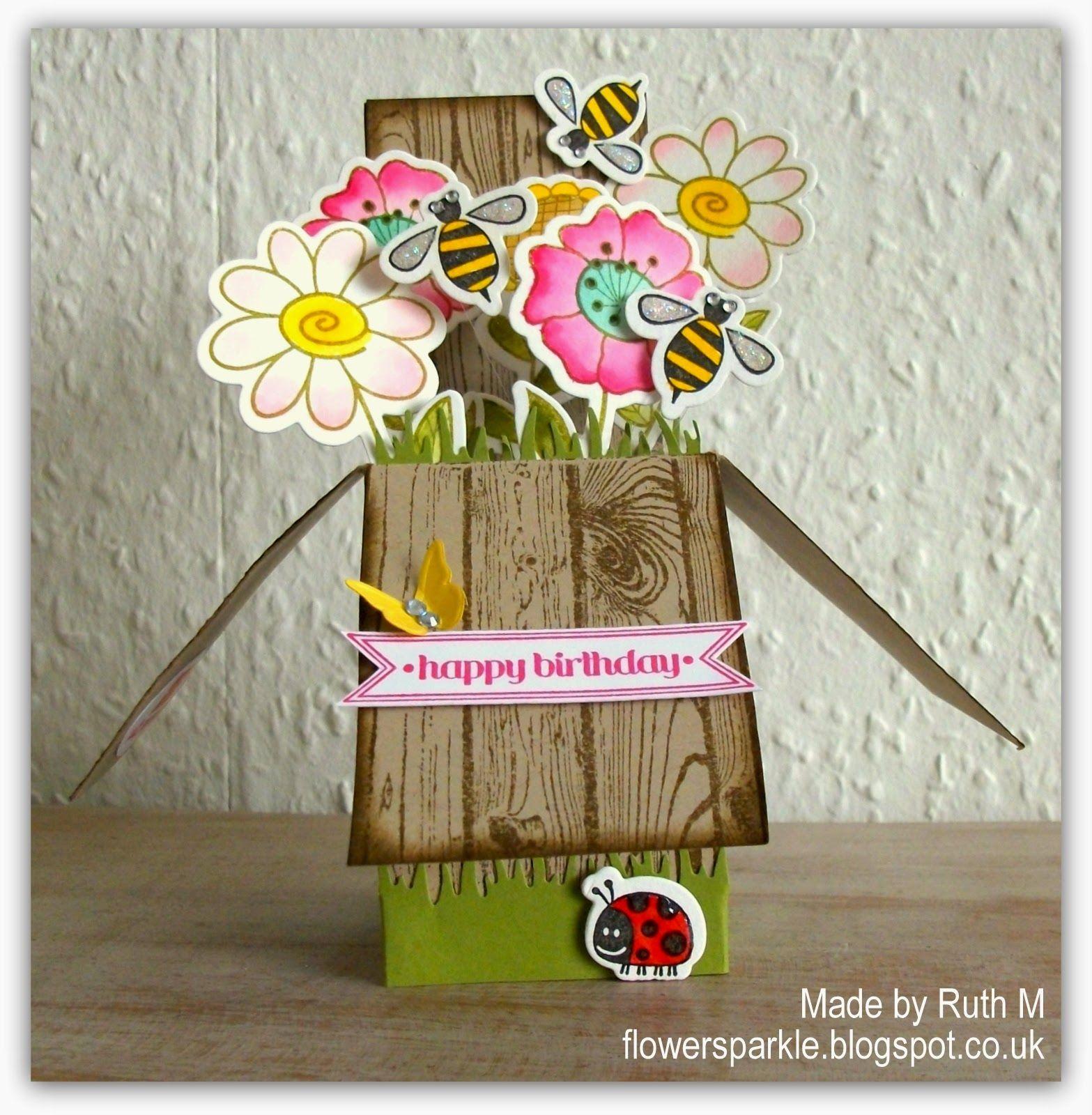 dimensional bloom happy birthday card  hoc march photo
