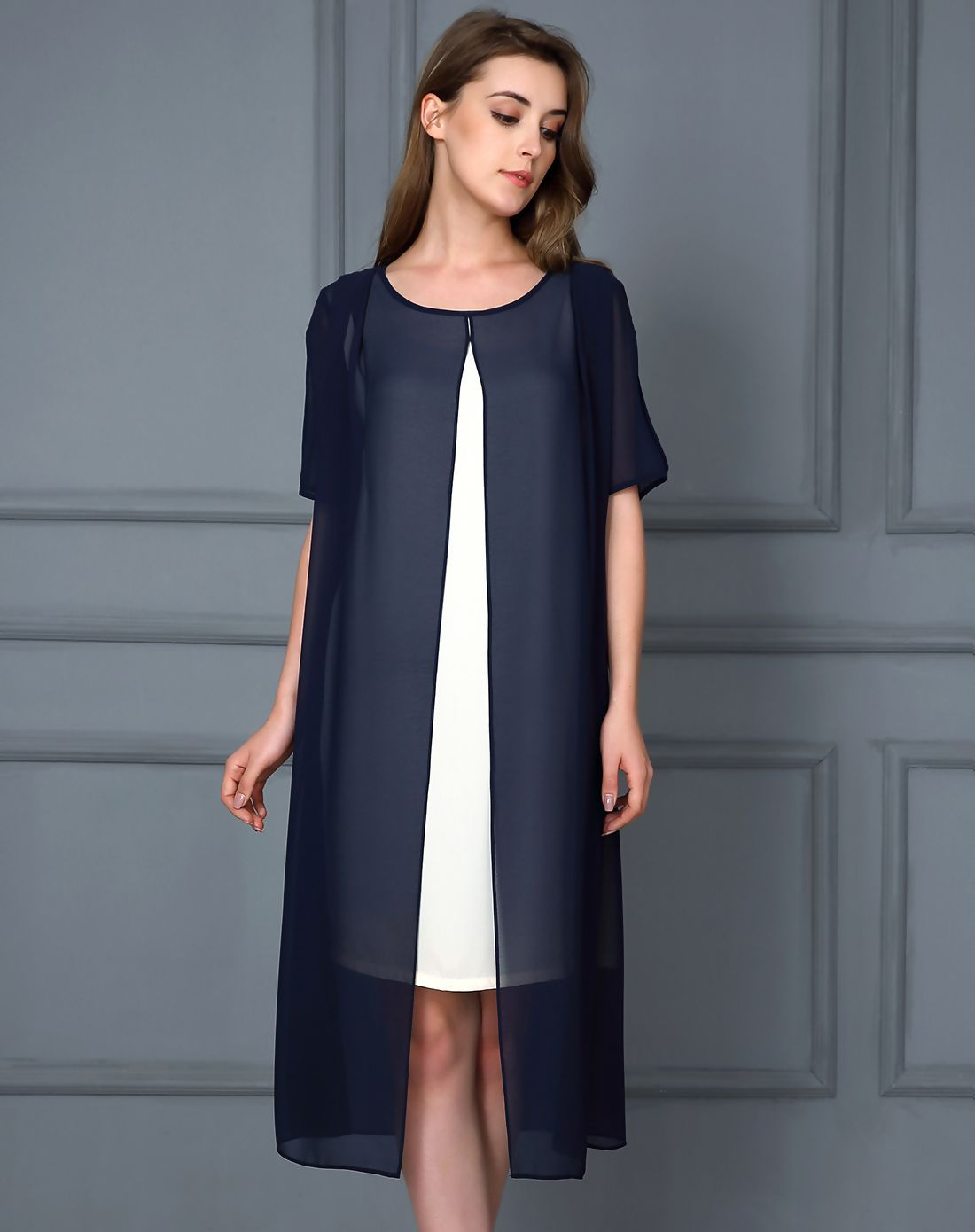 Adorewe vipme shift dressesdesigner themeans royal blue half