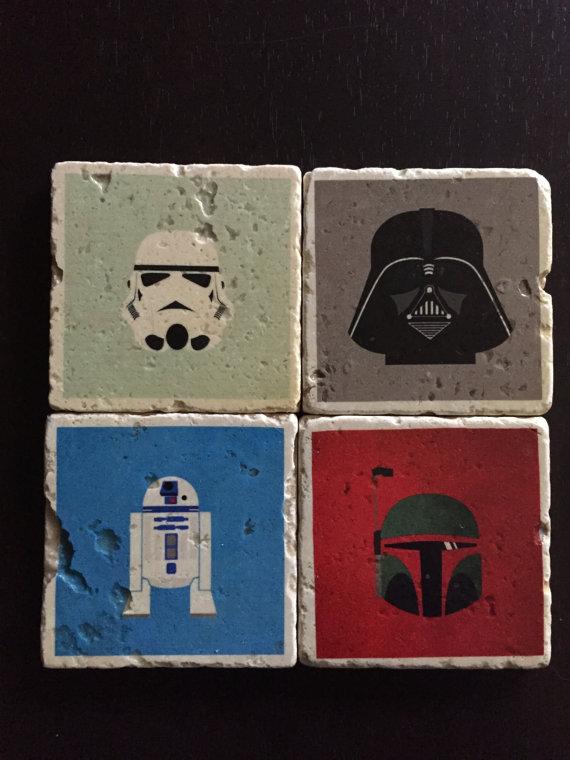Star Wars Minimalist Coasters Set of 4 by SirenStormStudios