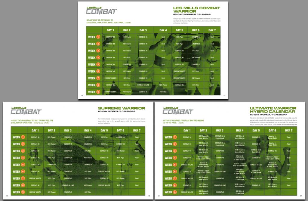 Les Mills Combat Schedule Free Pdf Download Les Mills Combat Workout Schedule And Calendar