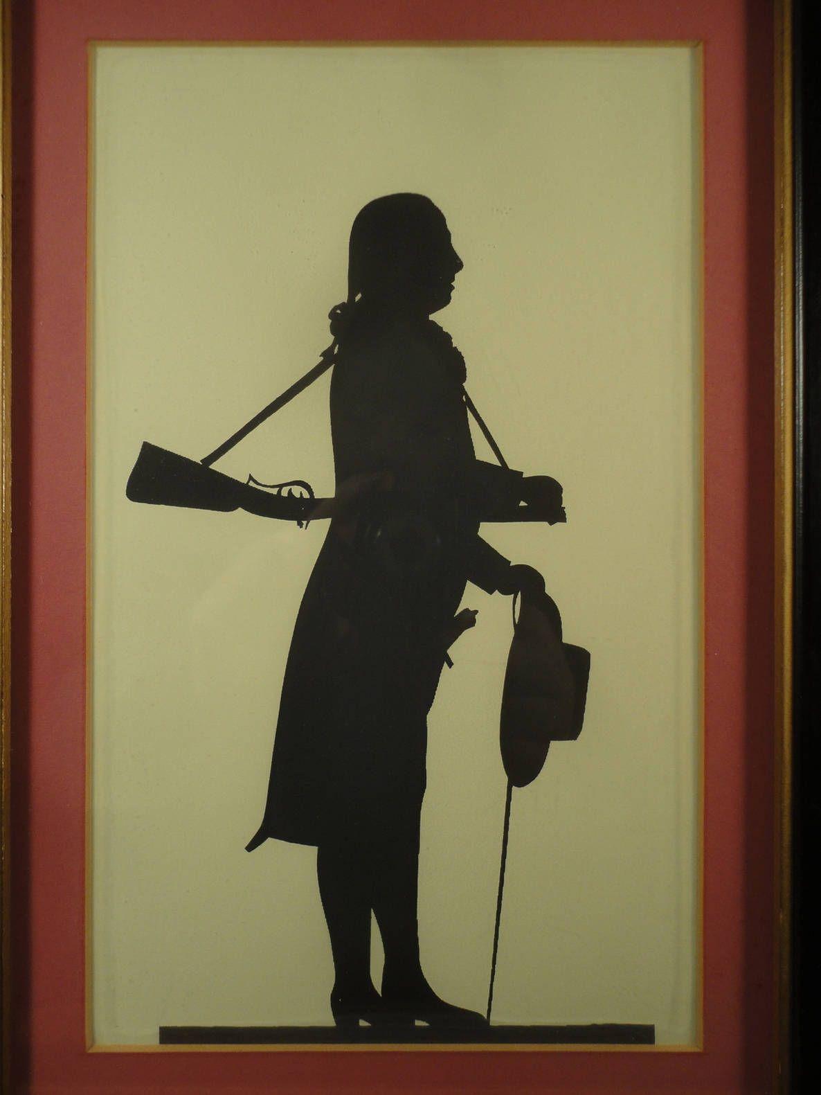 Silhouette Portrait Painting American Revolution Soldier Profile