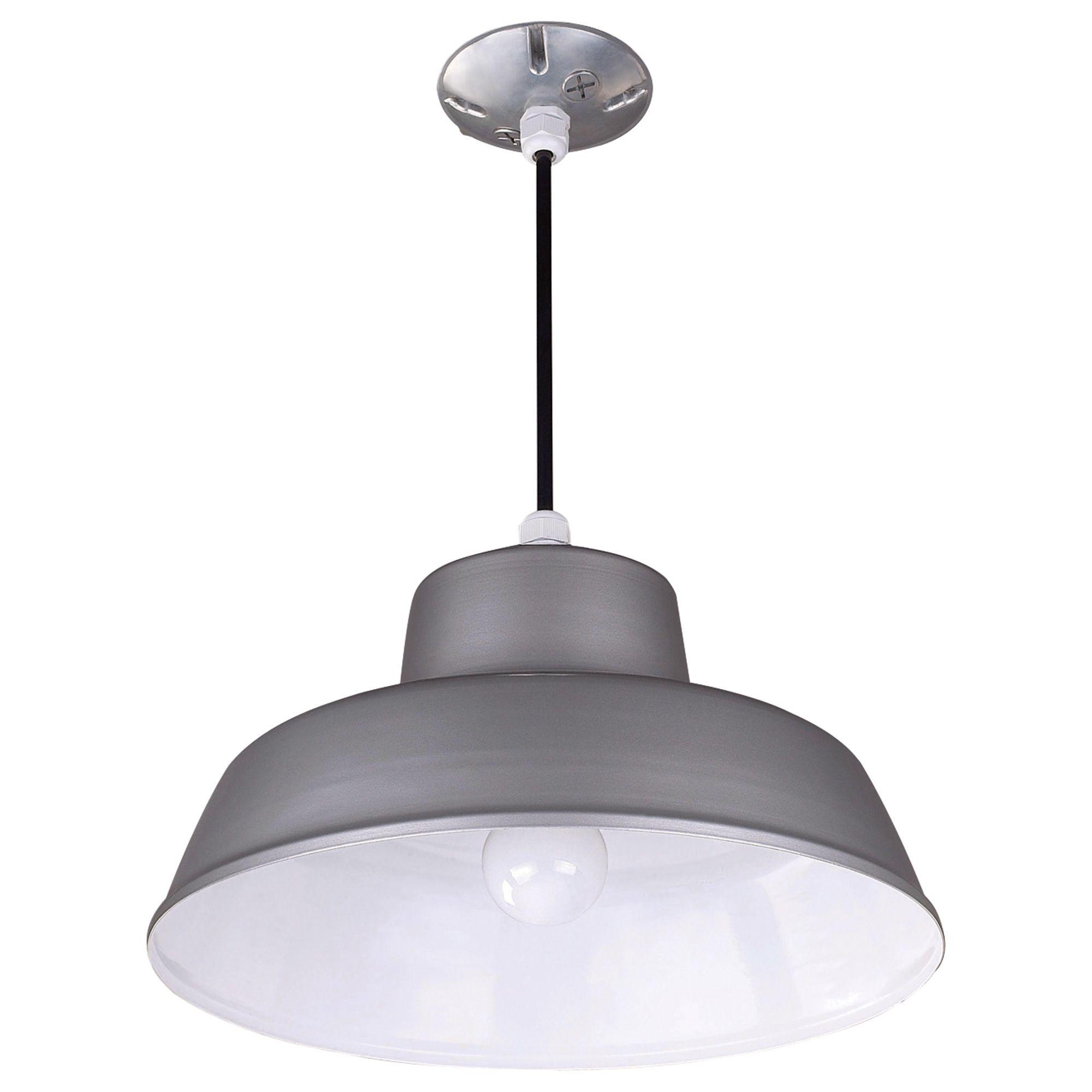 Outdoor Hanging Barn Lights: Canarm Hanging Ceiling Outdoor/Indoor Barn Light 14 3/8in