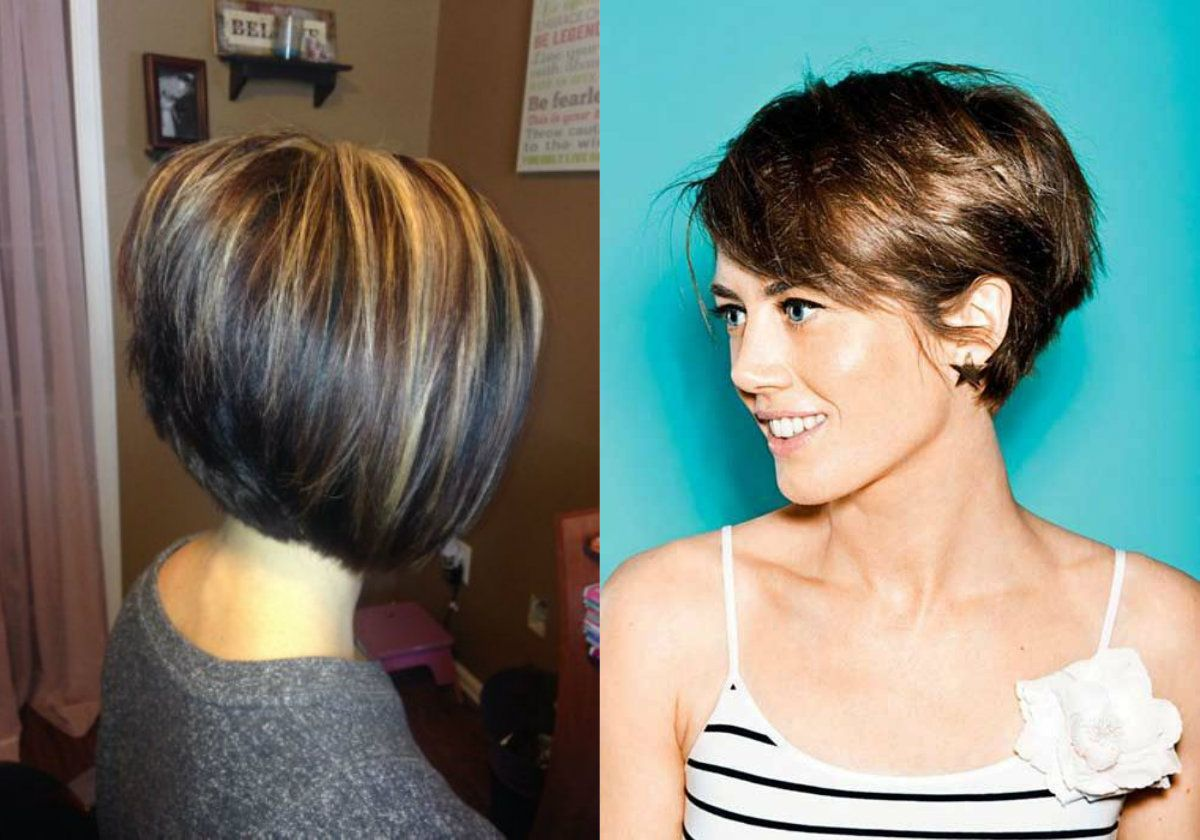 Business style stacked bob hairstyles hairdrome hair