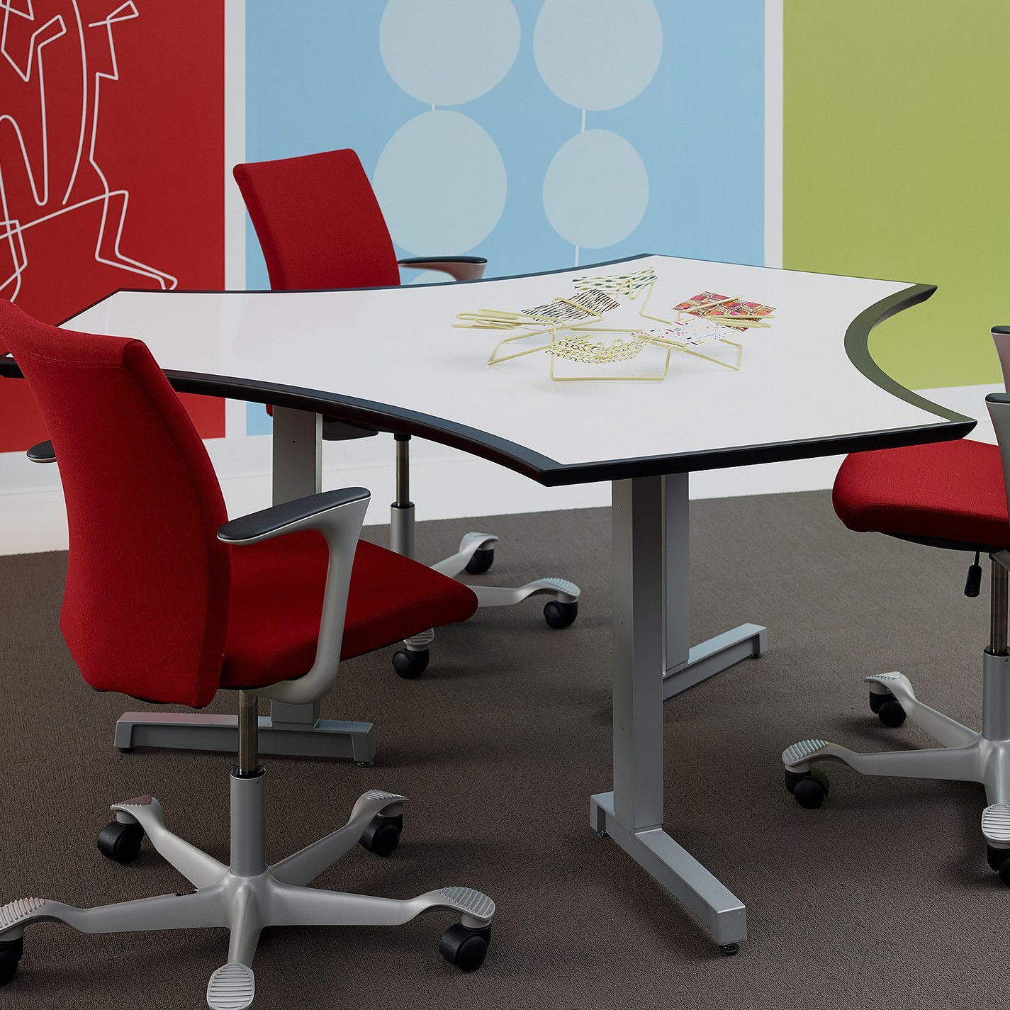 Customer Image Zoomed Training tables, Red furniture, Table