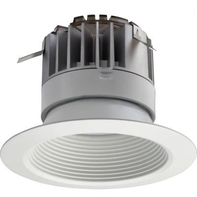 Lithonia Lighting 4 in  White Integrated LED Recessed Baffle