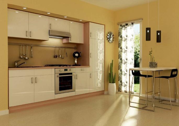 cucina da 270 frassino e bianco laccato in kit senza ...
