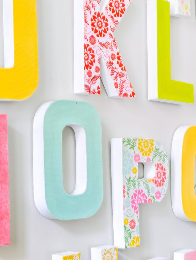 DIY Wall Letters | Nursery decor | Letter wall decor ...
